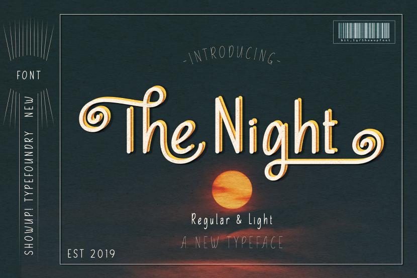 The Night Free Typeface - script