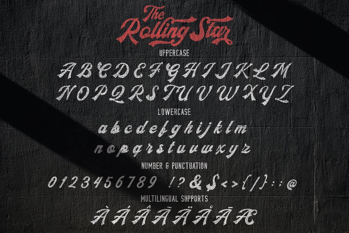 The Rollingstar Free Font - decorative-display