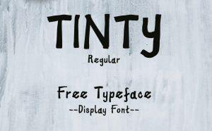 Tinty Free Font - script