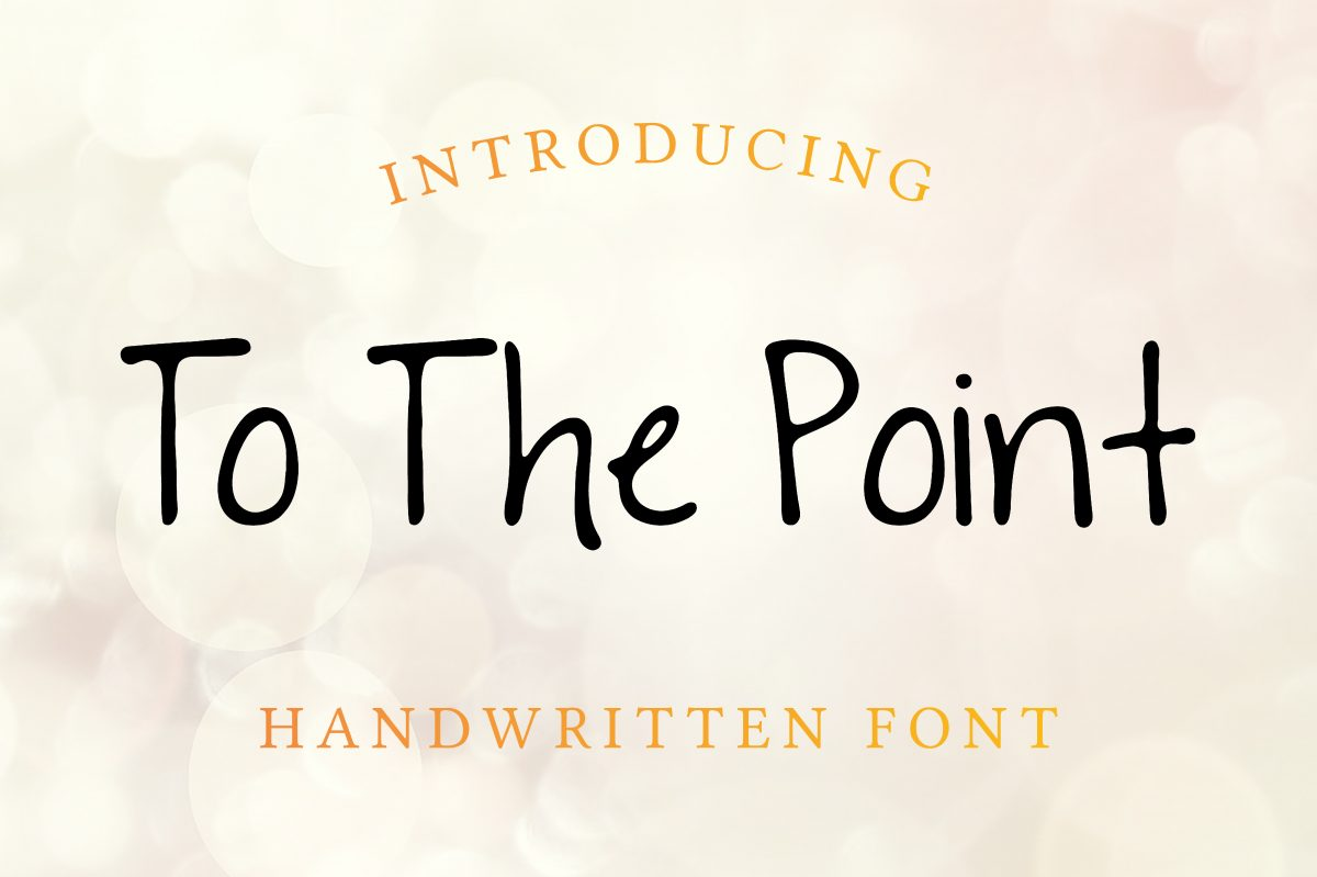 To The Point Free Font - script