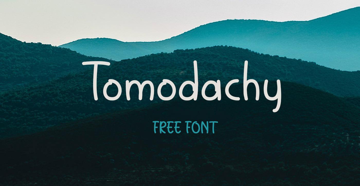 Tomodachy Free Font - script