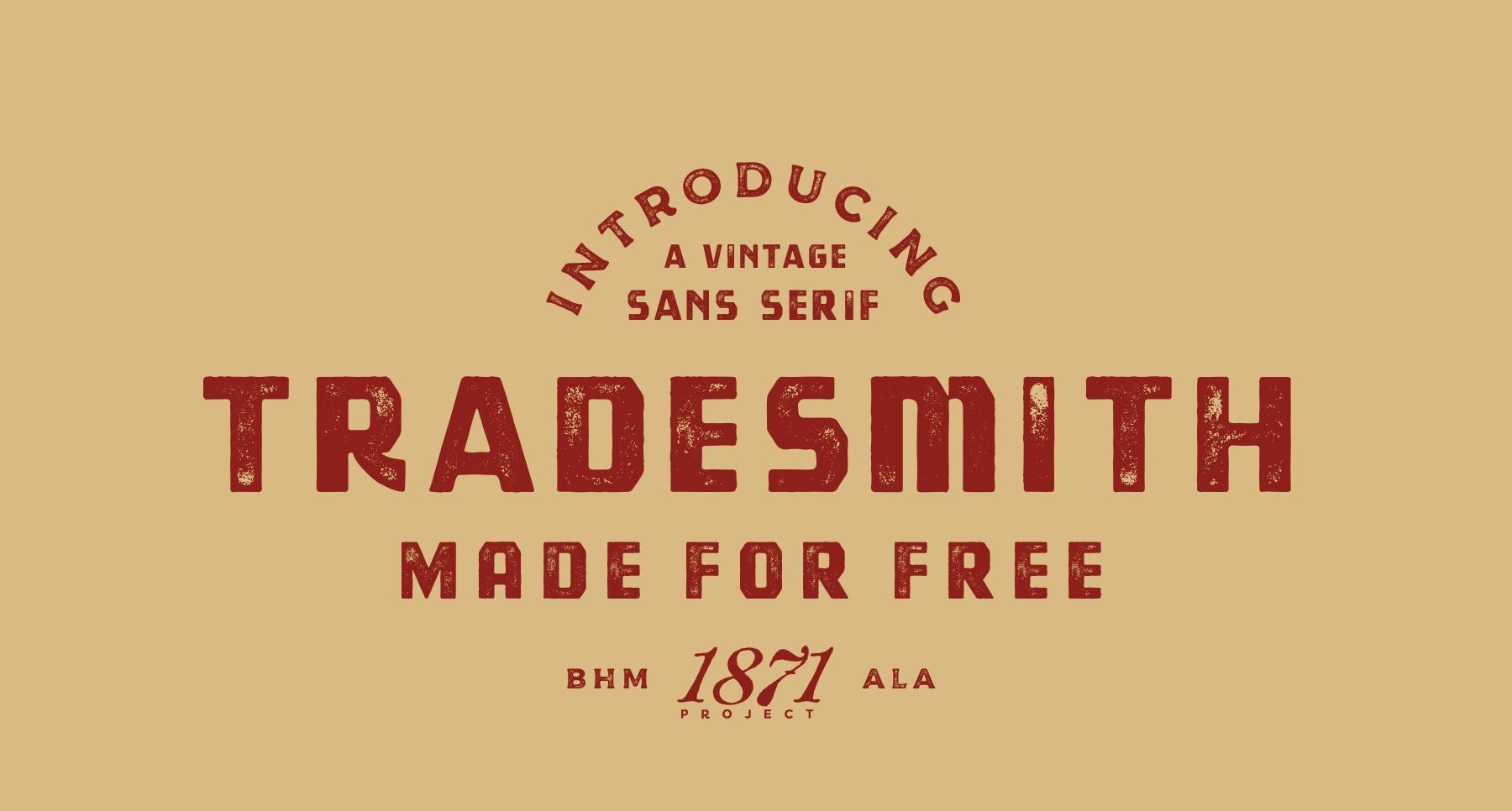 Tradesmith Free Font - sans-serif