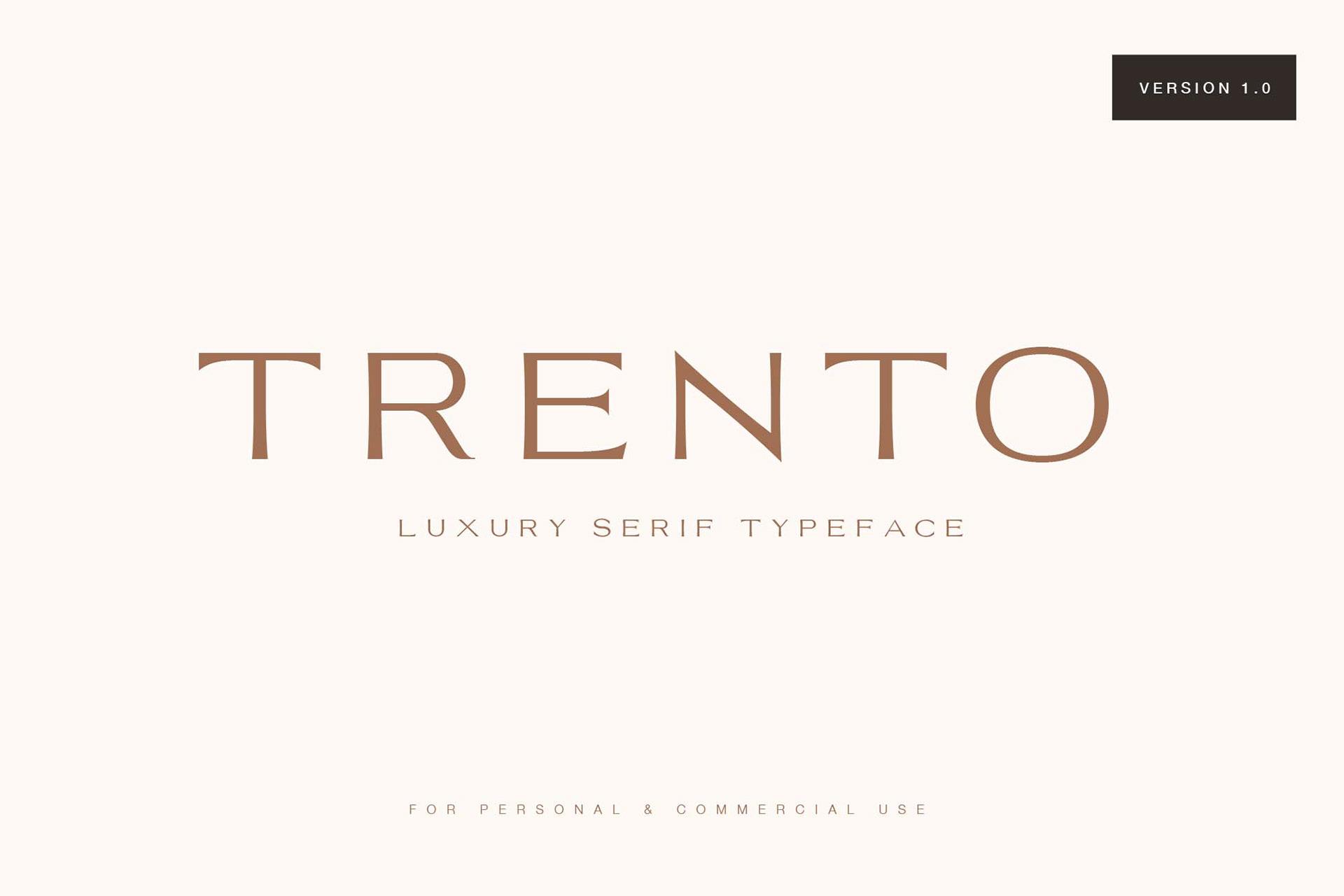 Trento Free Font - serif