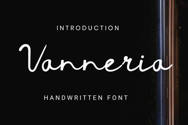 Vanneria Free Font - script