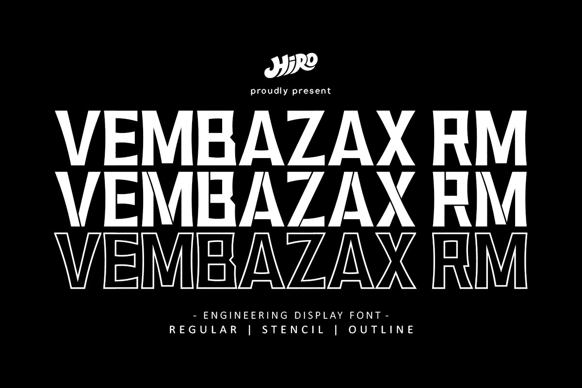 VEMBAZAX RM Free Font - decorative-display
