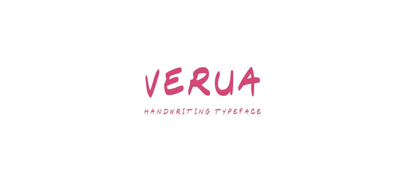 Verua Free Font - script