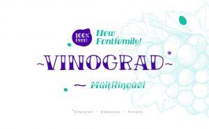 VINOGRAD Free Font Family - script