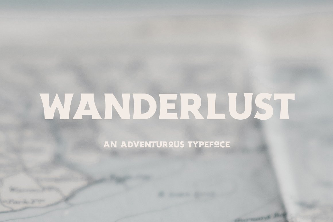 Wanderlust Free Font - decorative-display