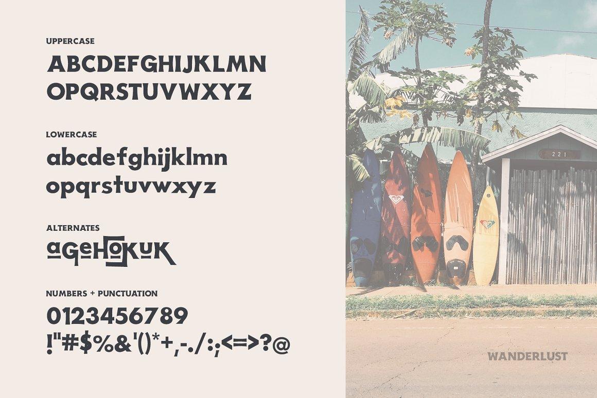 Wanderlust Free Font - decorative-display