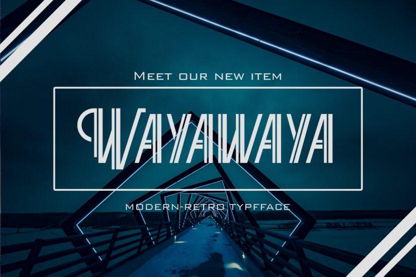 Wayawaya Free Font - decorative