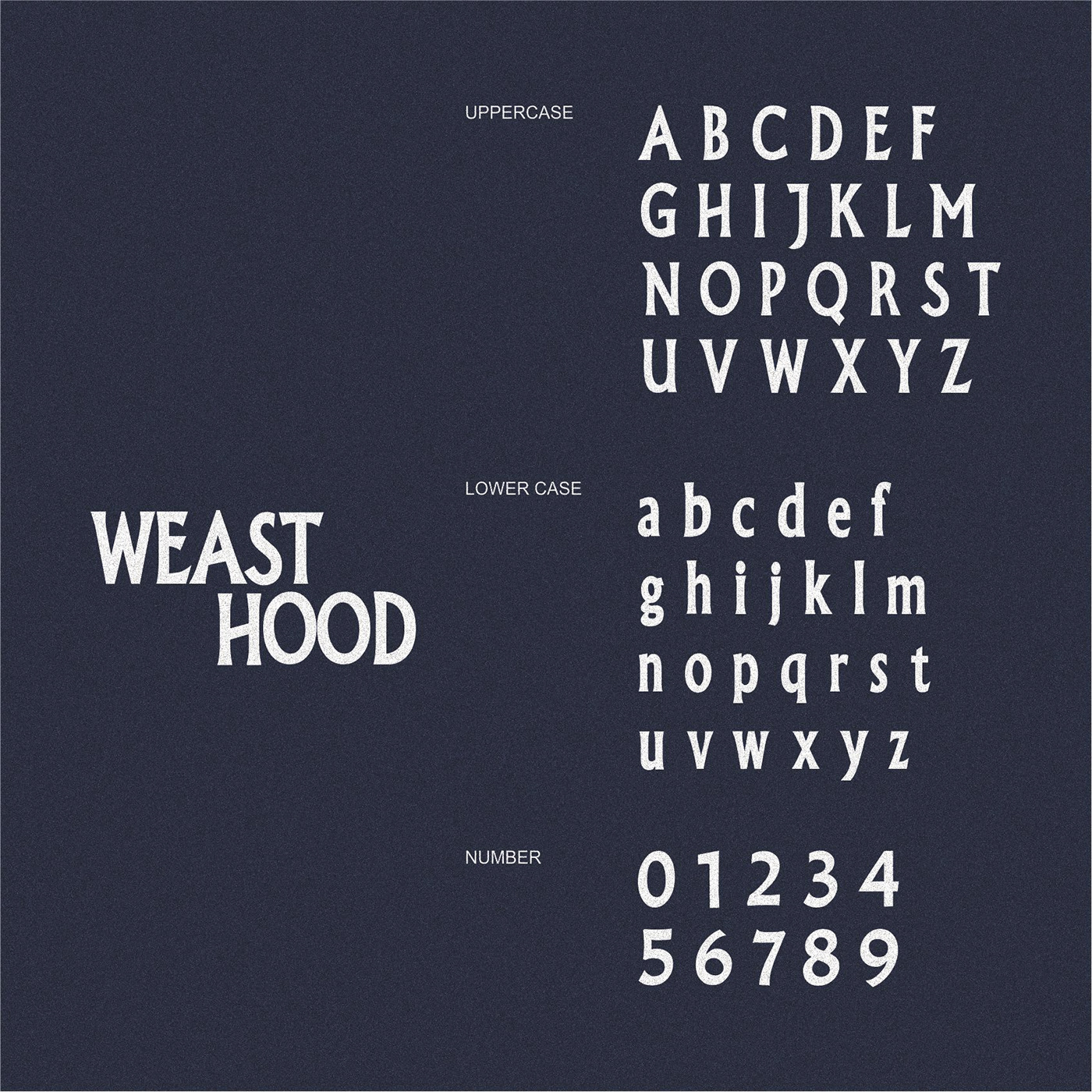 WEAST HOOD Free Font - decorative-display