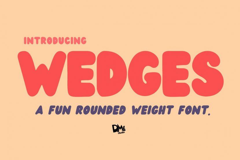 Wedges Free Font - decorative