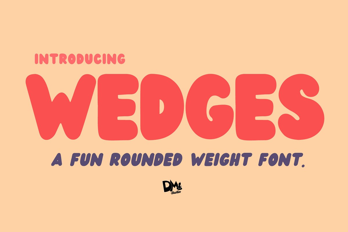 Wedges Free Font - decorative-display