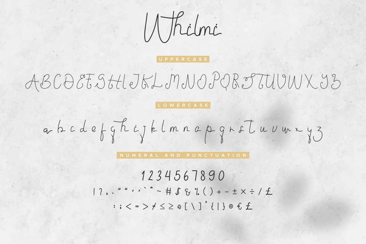 Whilmi Free Font - script