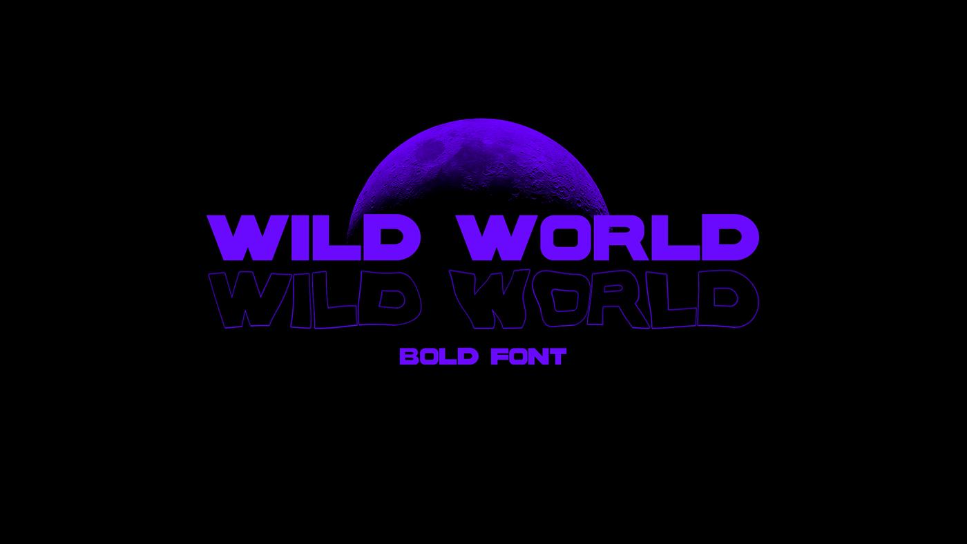 WILD WORLD Free Font - sans-serif