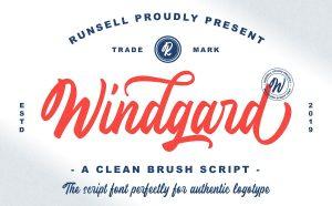 Windgard Free Font - script