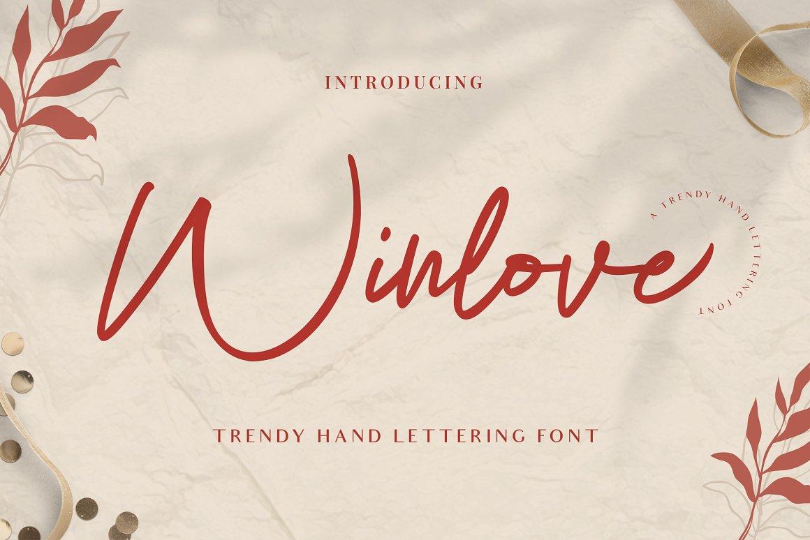 Winlove Free Font - script