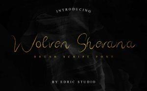 Wolven Shevana Free Font - script