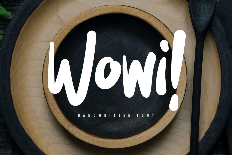Wowi Free Font - script