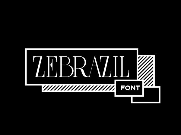 ZEBRAZIL Free Font - serif