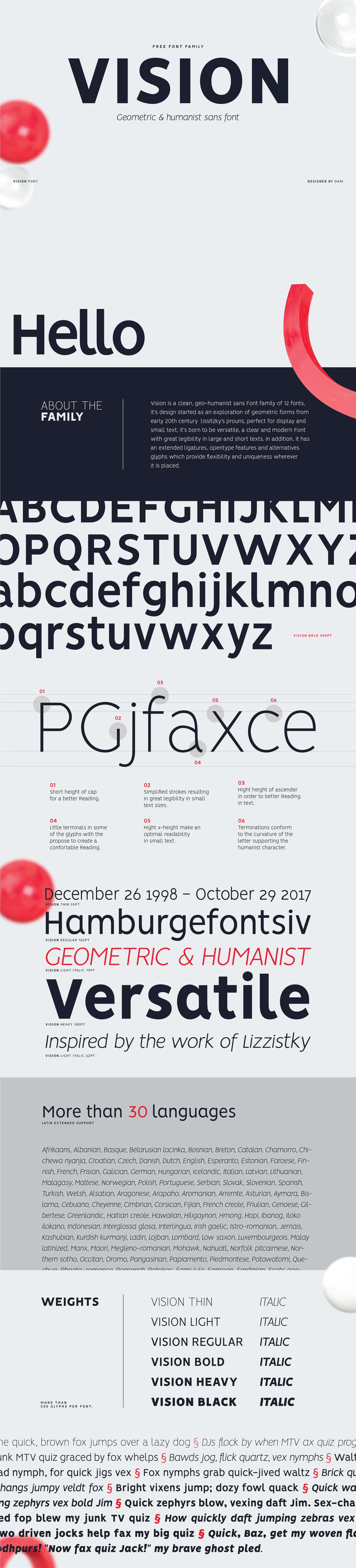 VISION - Free Font Family (12 FONTS) — fontsrepo