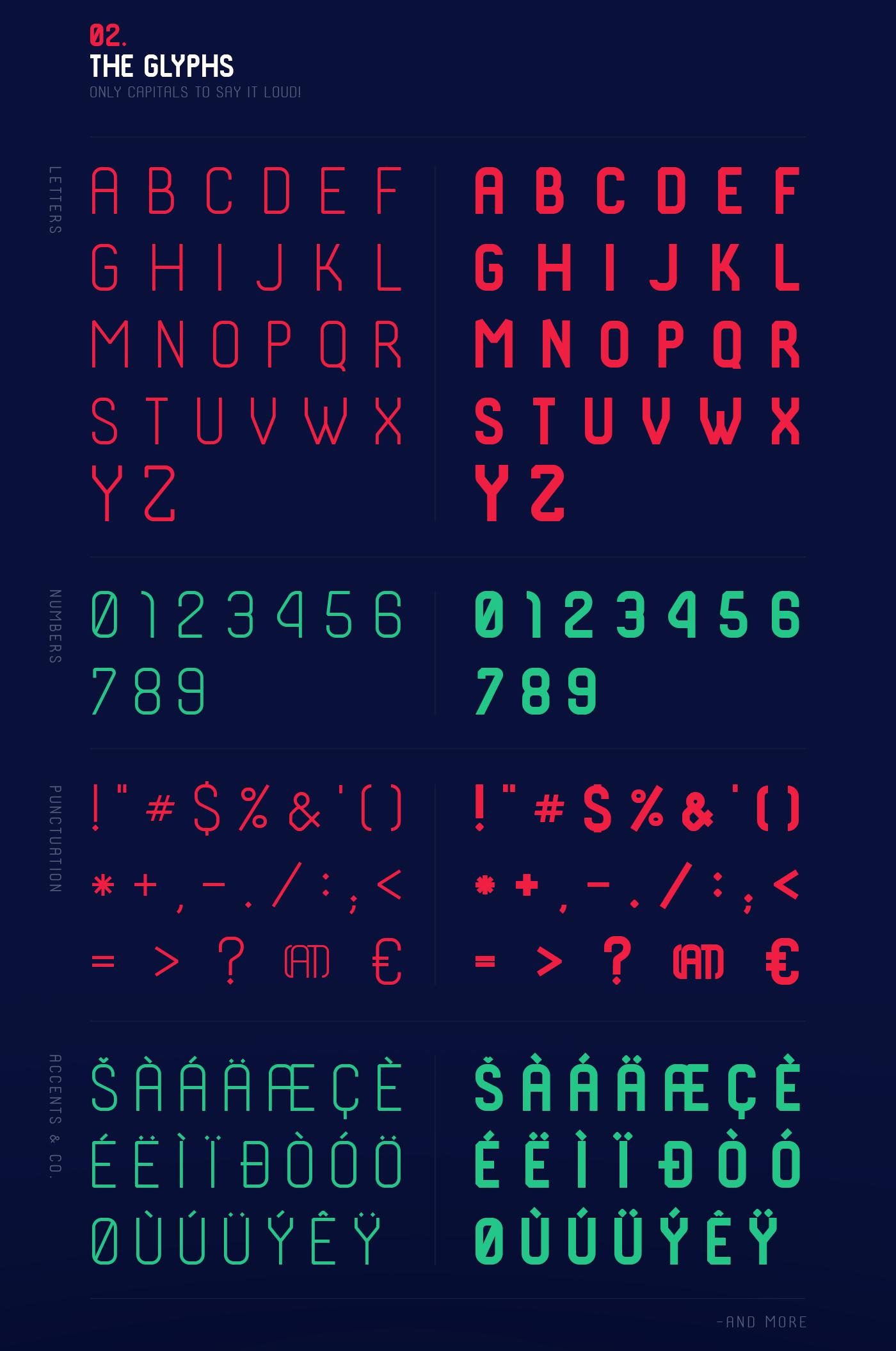 Shkoder 1989 free font - sans-serif