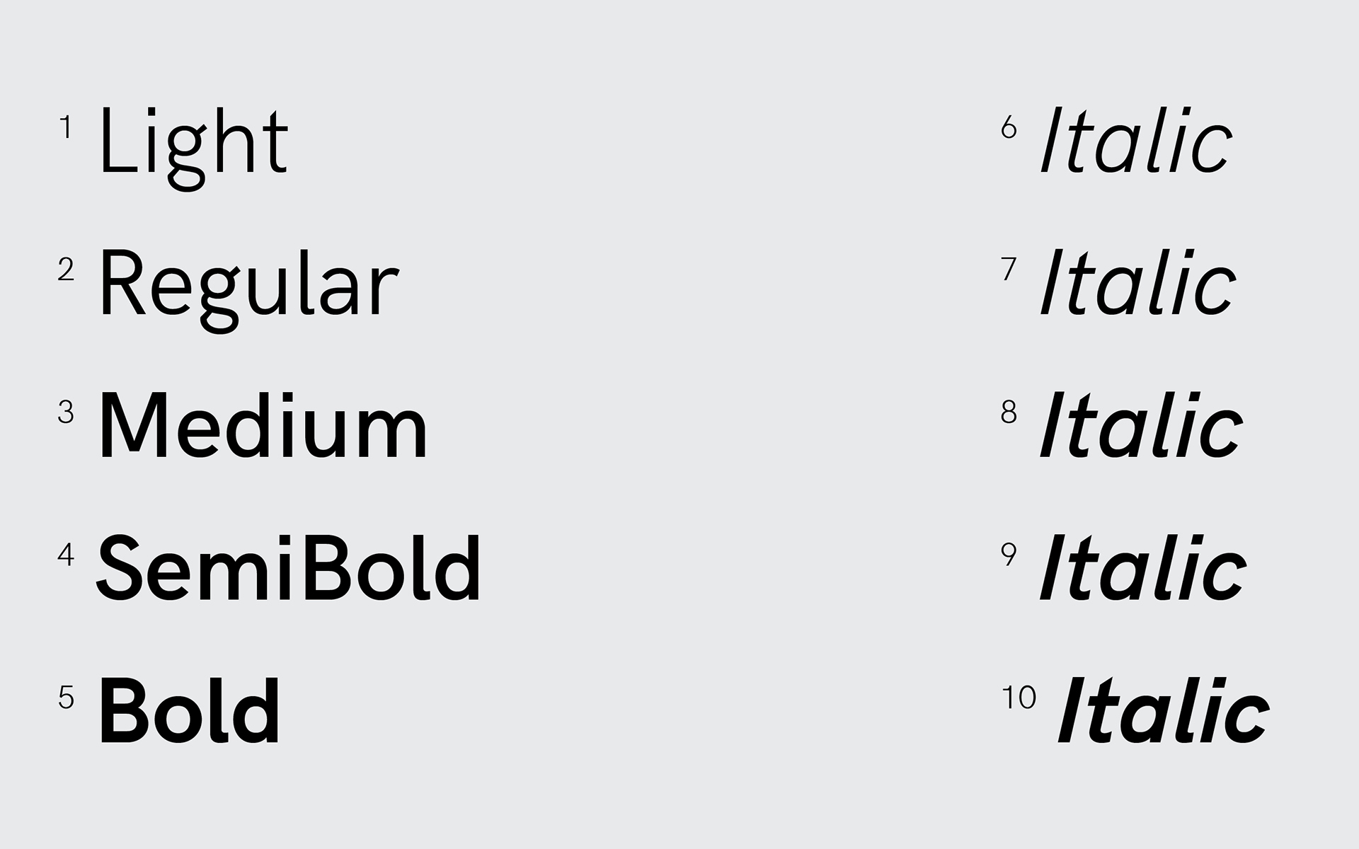 HK Grotesk Typeface — fontsrepo