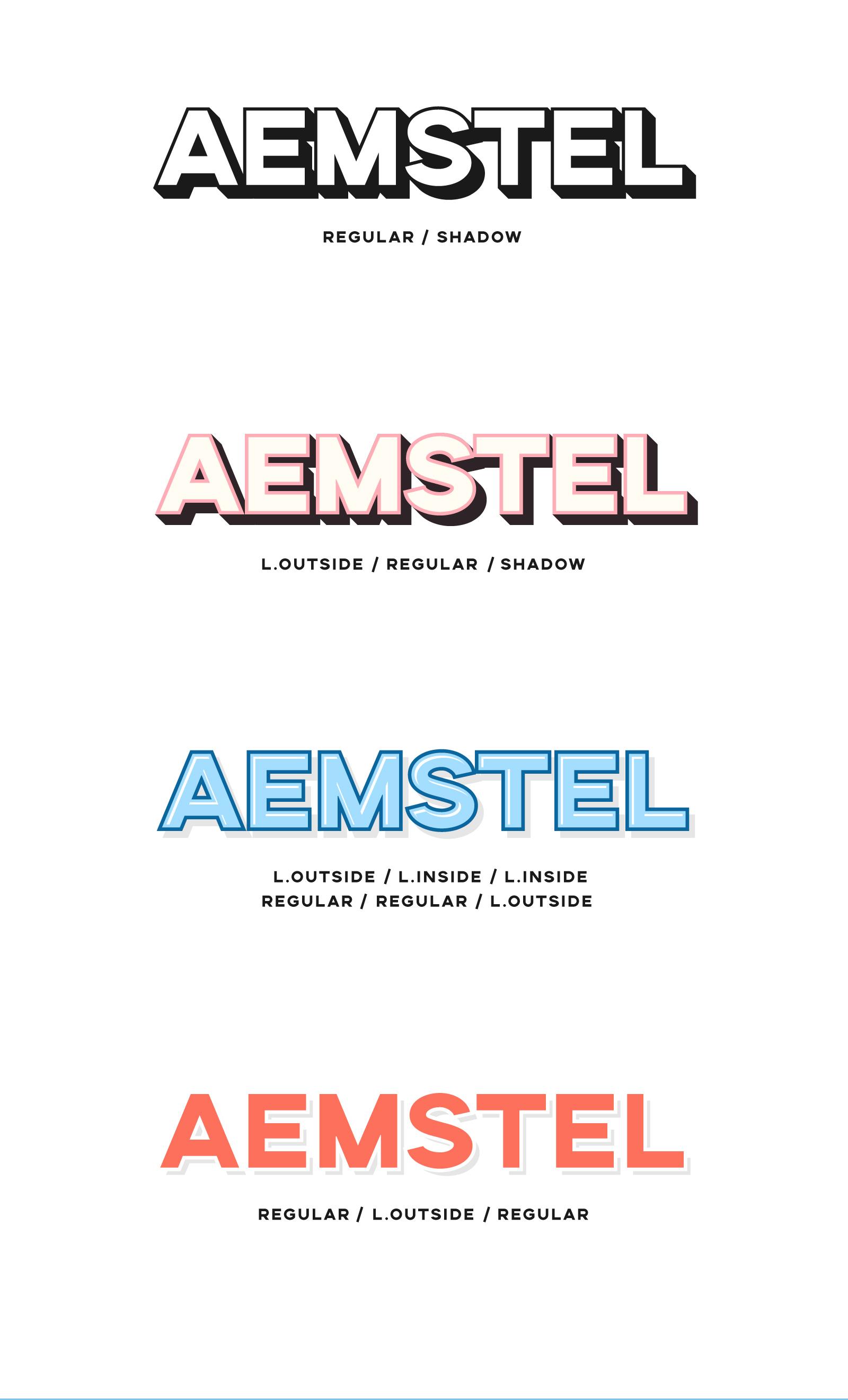 Aemstel Free Layered Font - sans-serif