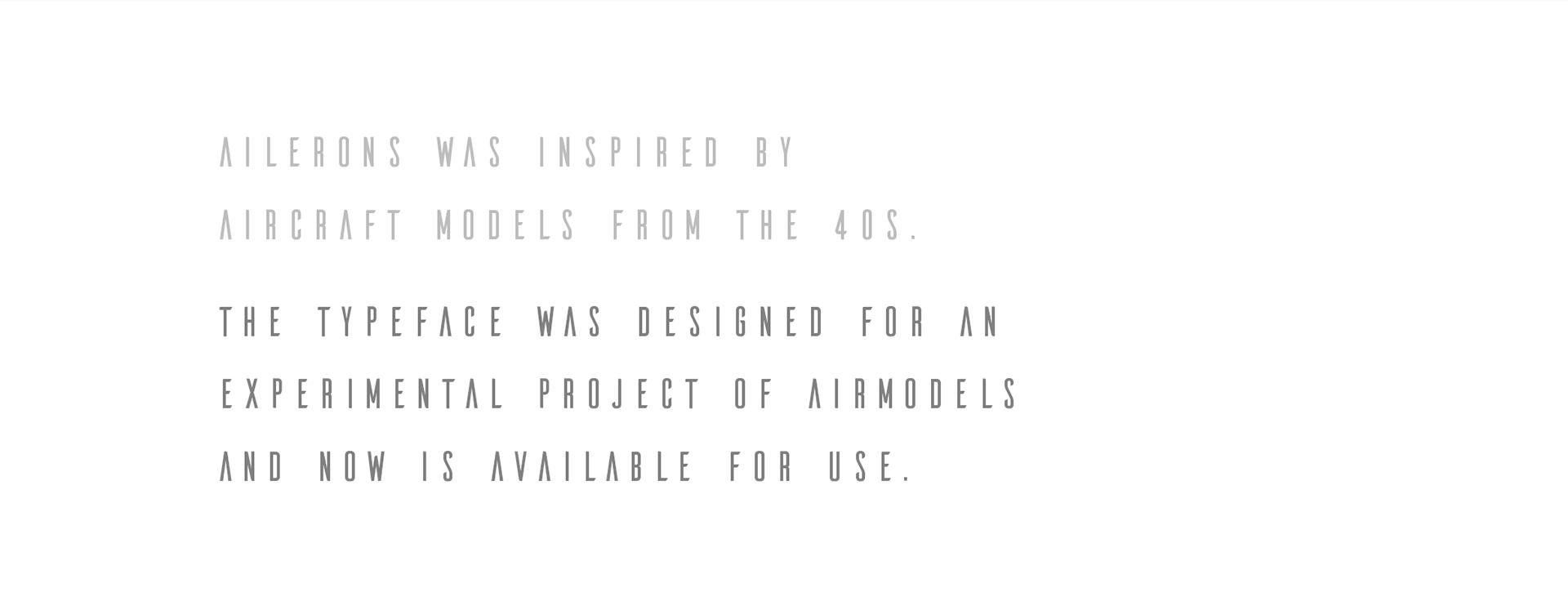 Ailerons Free Font - sans-serif