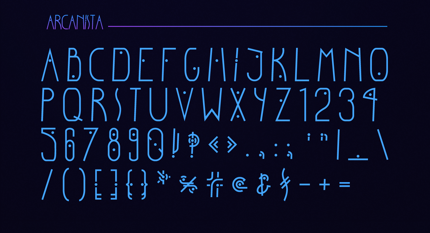 Arcanista Free Font - decorative