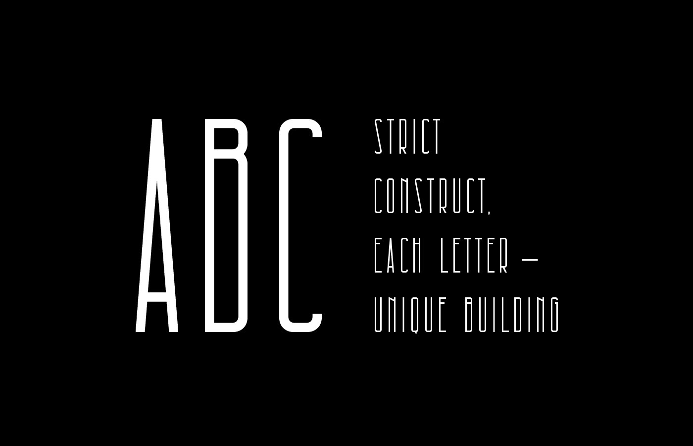 Architectural Free Font - decorative-display