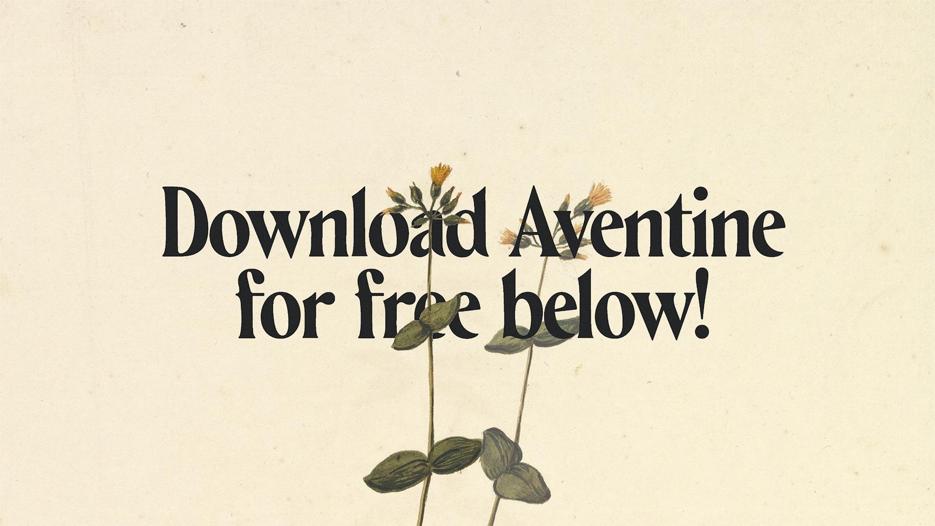 Aventine Free Font - serif