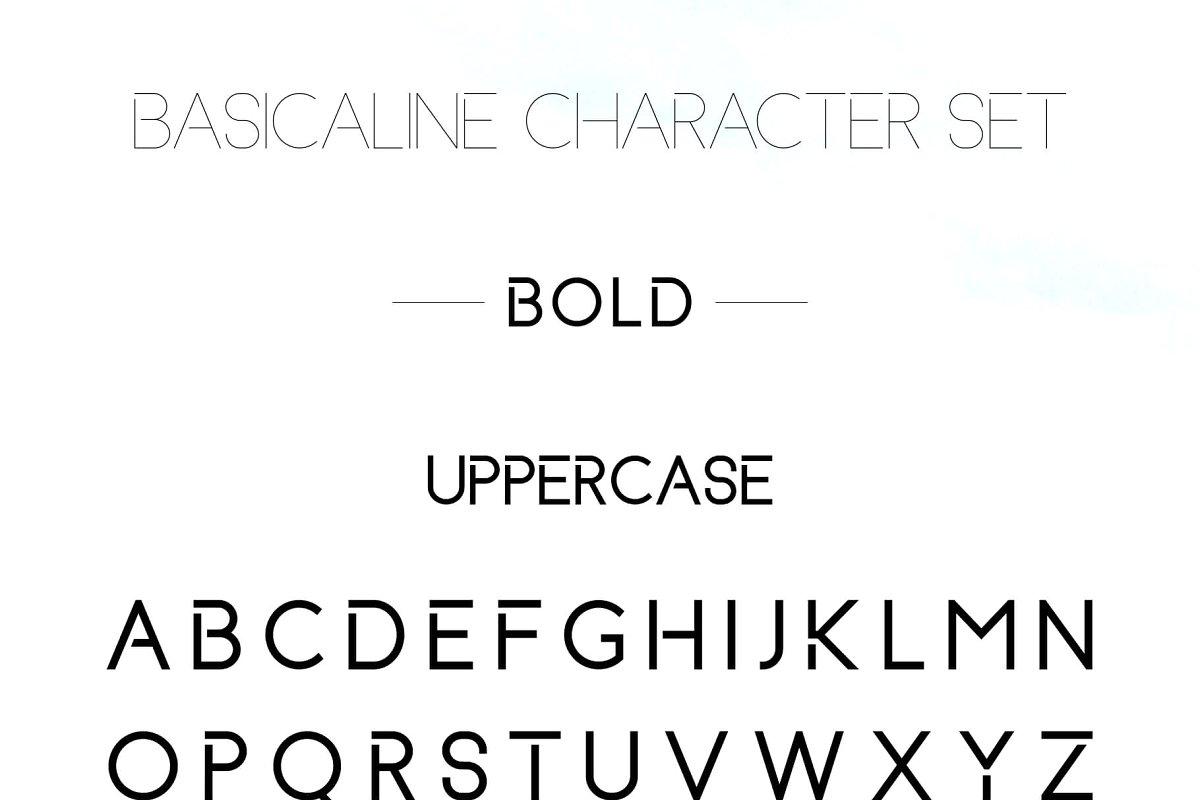 Basicaline Free Font - sans-serif