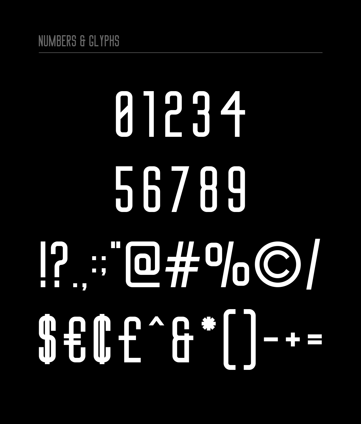 Big Stem Free Font - sans-serif