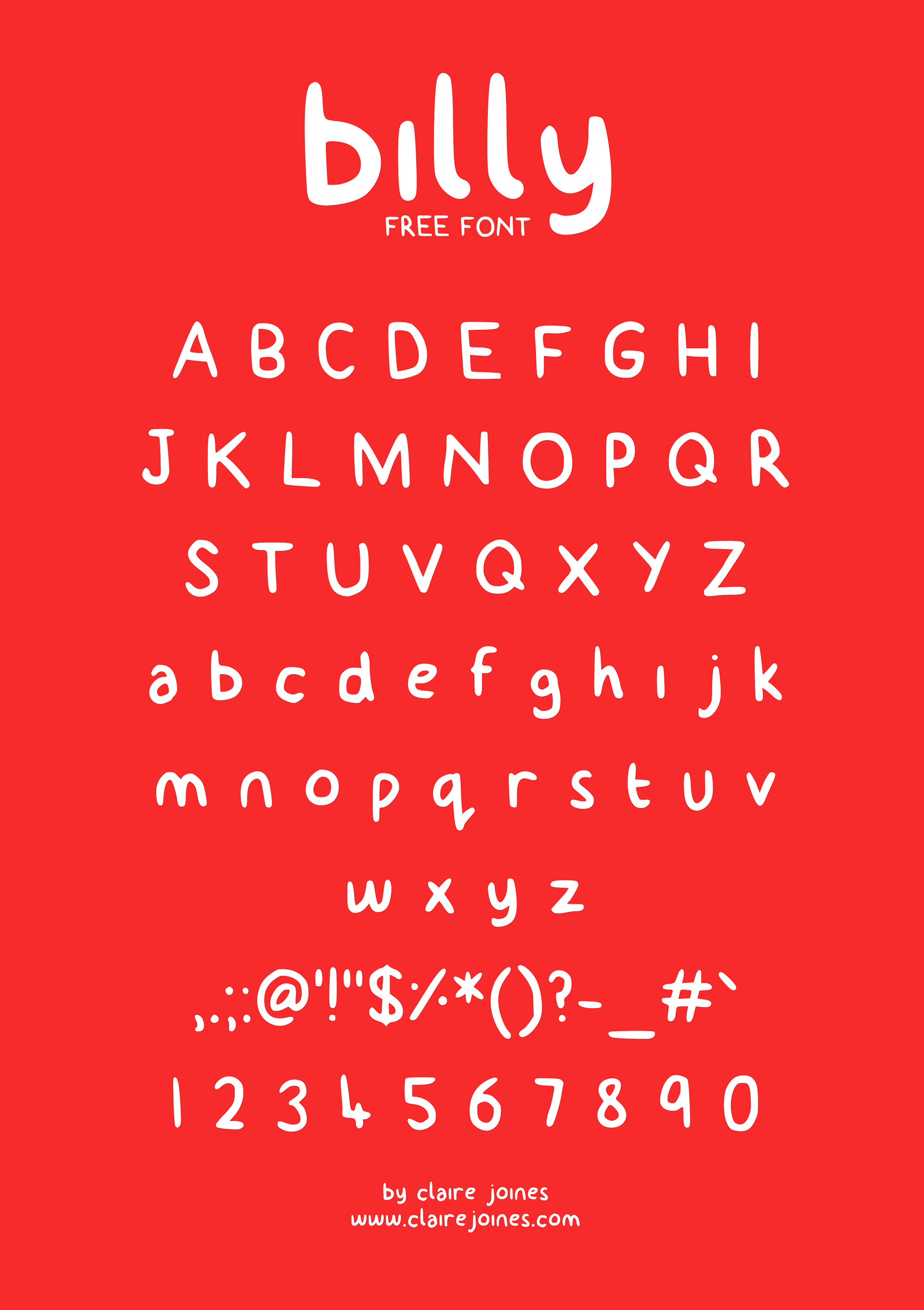 billy Free Font -