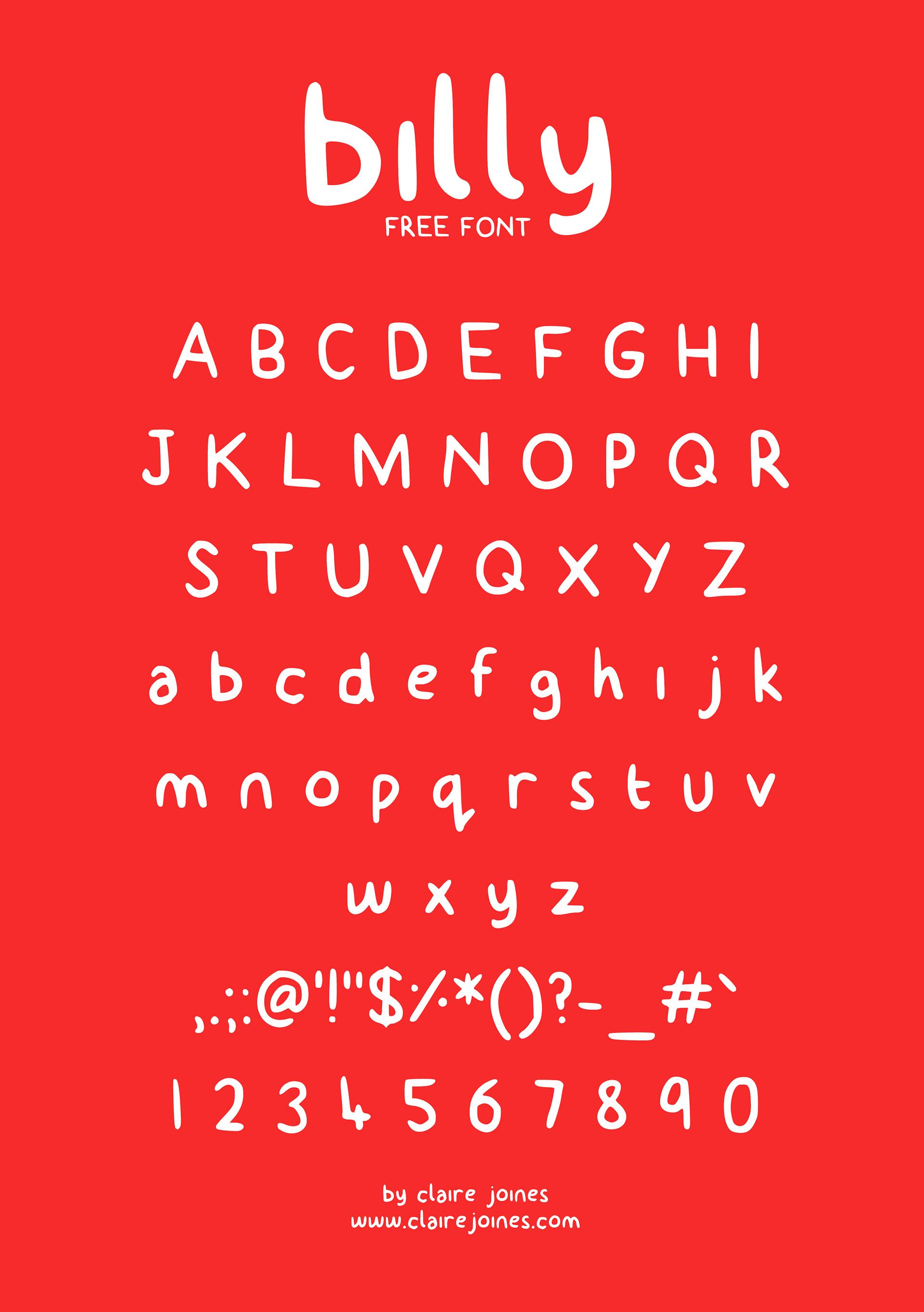 billy Free Font - script