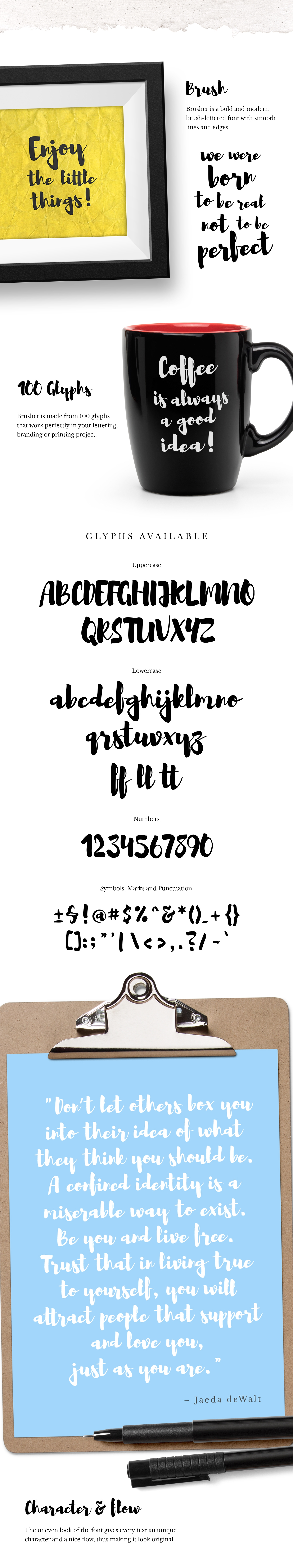 Brusher Free Font - script