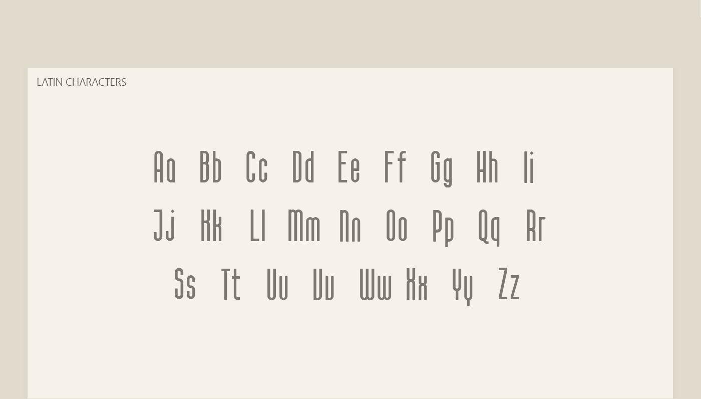 CALAMA Free Font - sans-serif