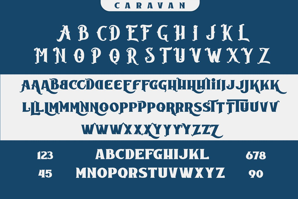 Caravan Free Font - decorative-display