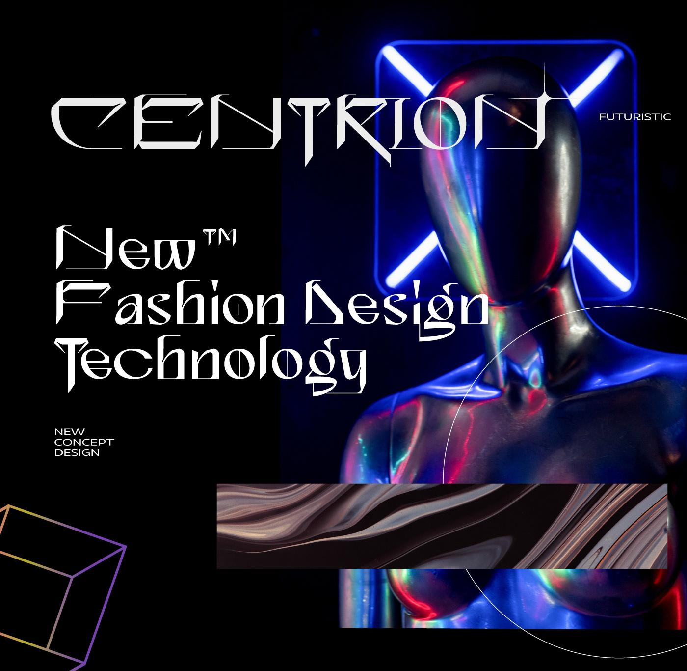 CENTRION Free Font - decorative-display