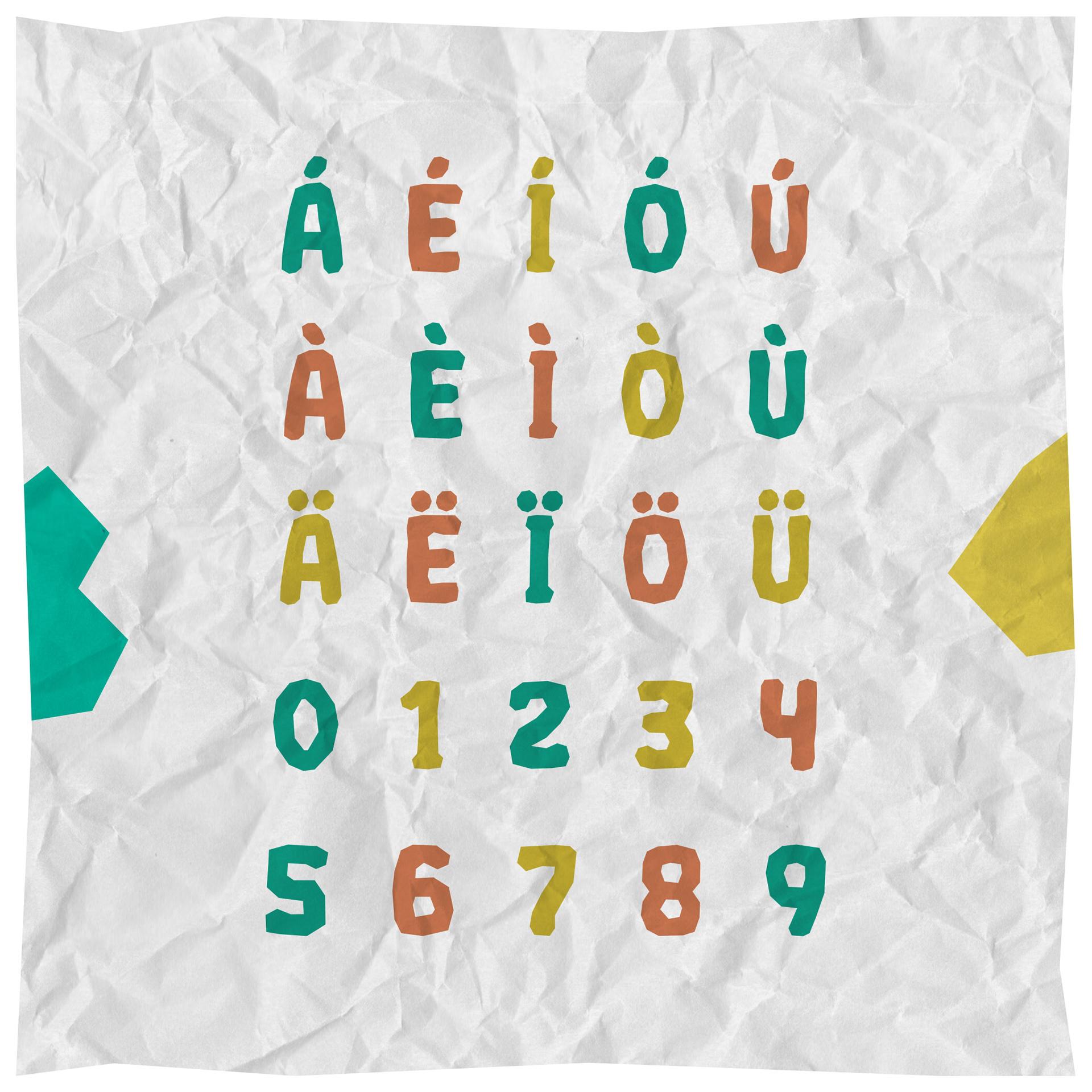 CRUMPLED Free Font - sans-serif