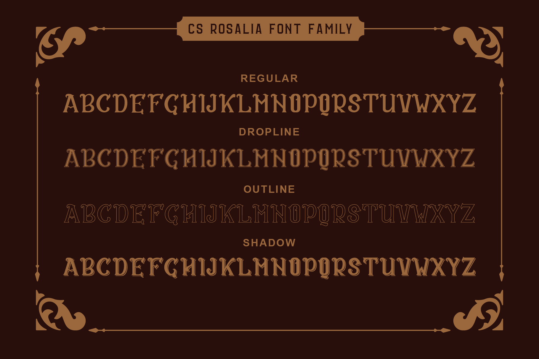 CS Rosalia Free Font - decorative-display