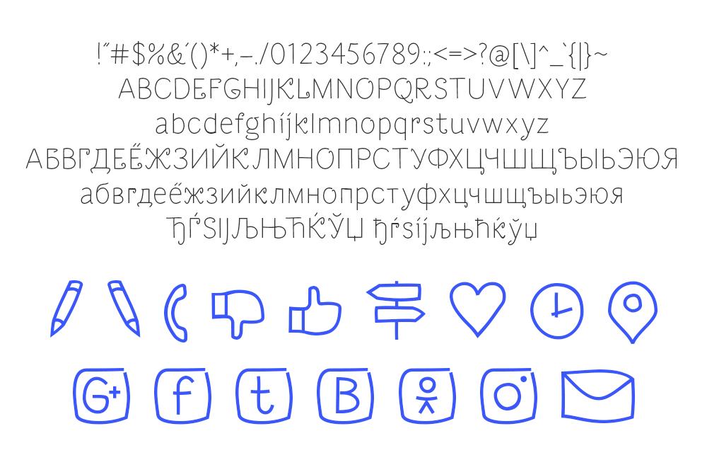 Dacha Free Font - sans-serif