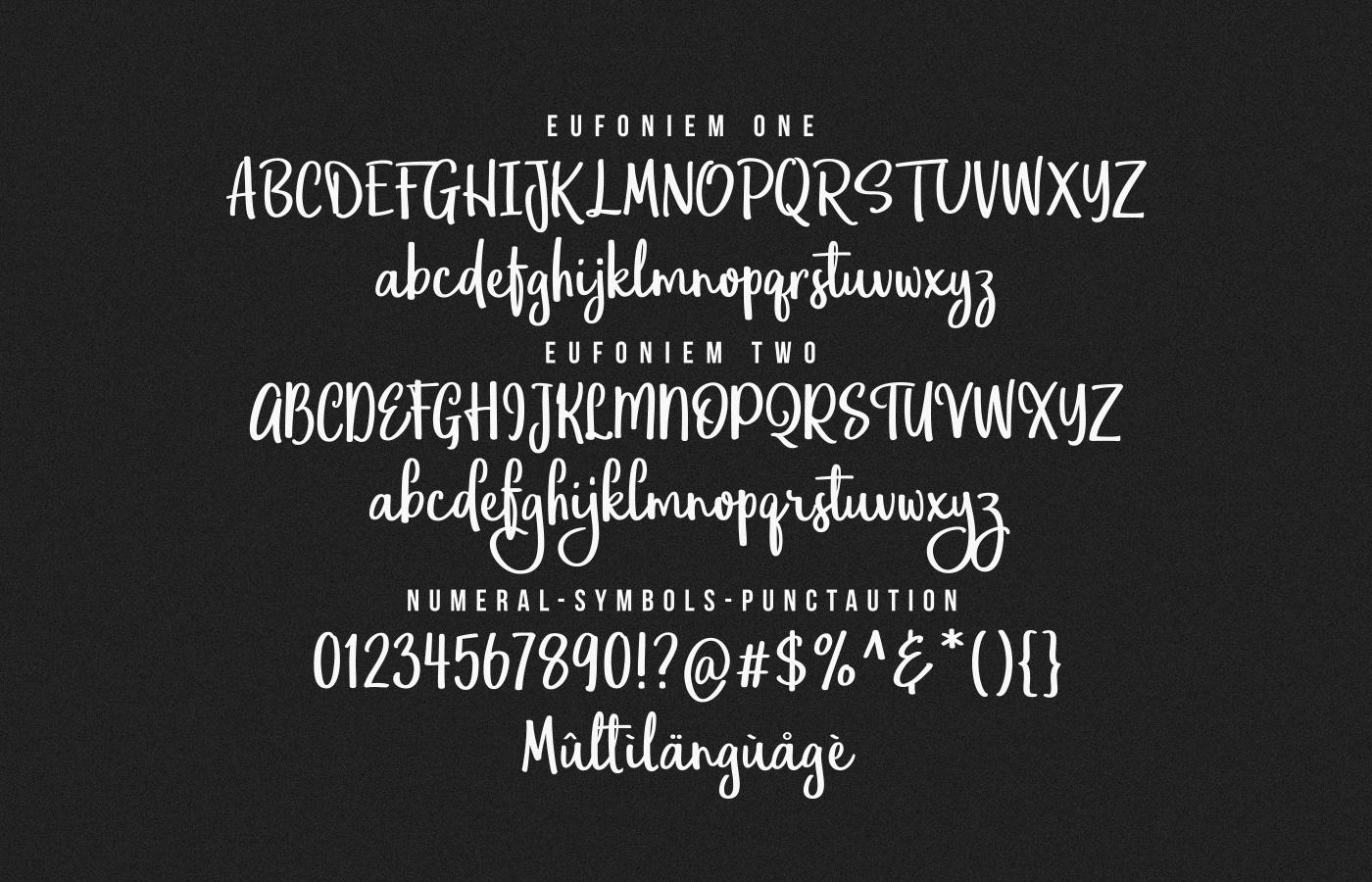 Eufoniem Free Font - script