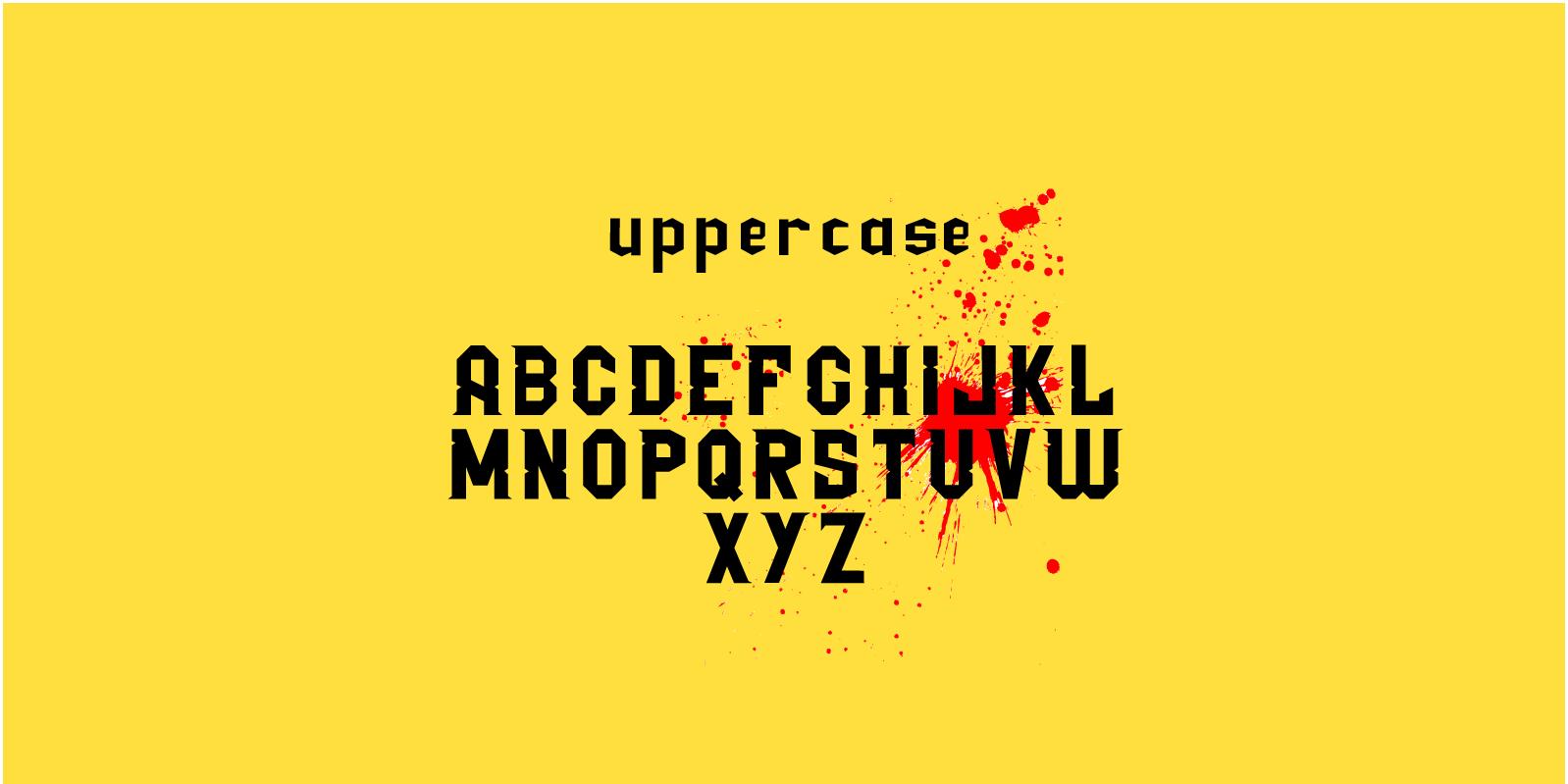 Ezequiel 25:17 Free Font - sans-serif