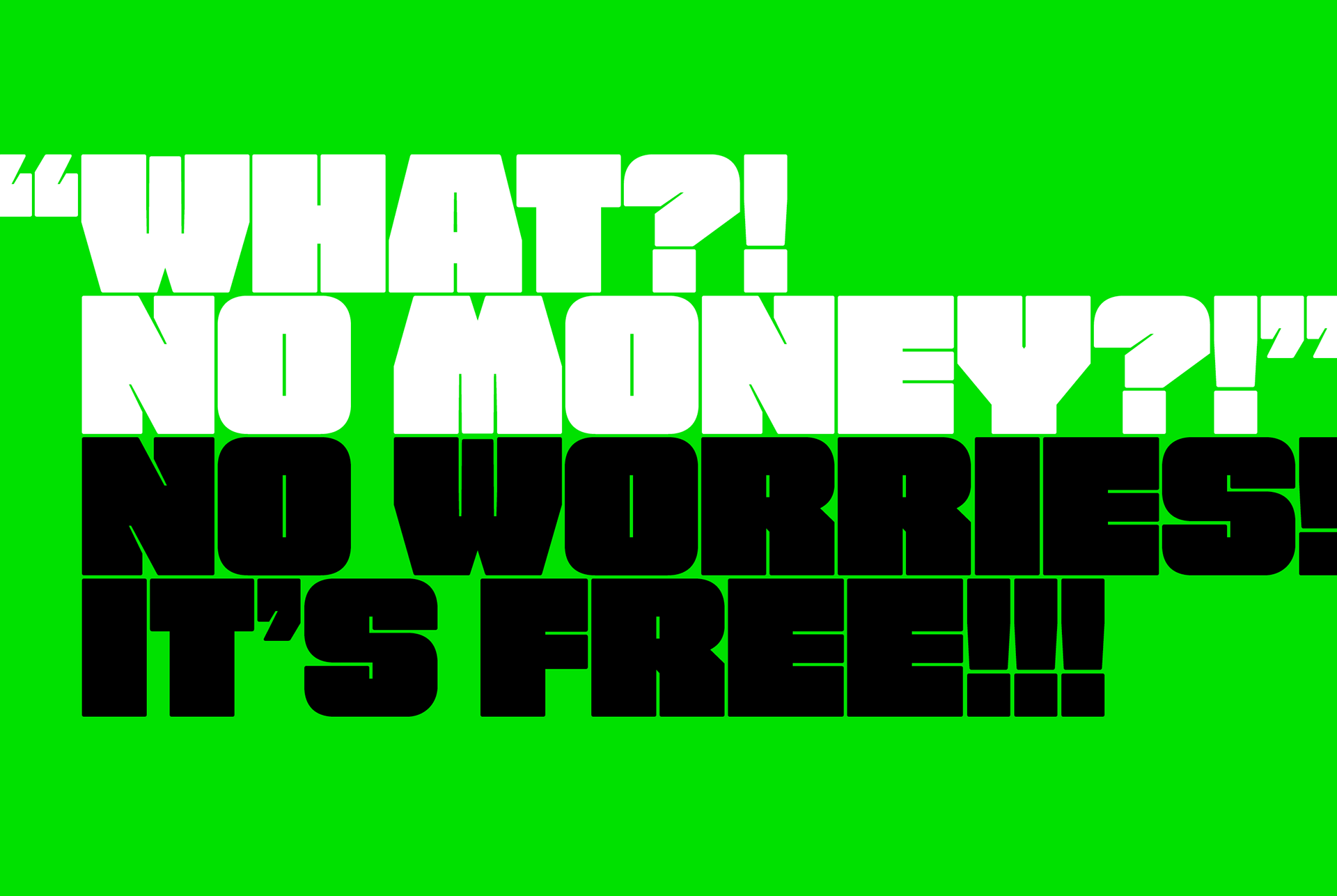 FAT Free Font - sans-serif