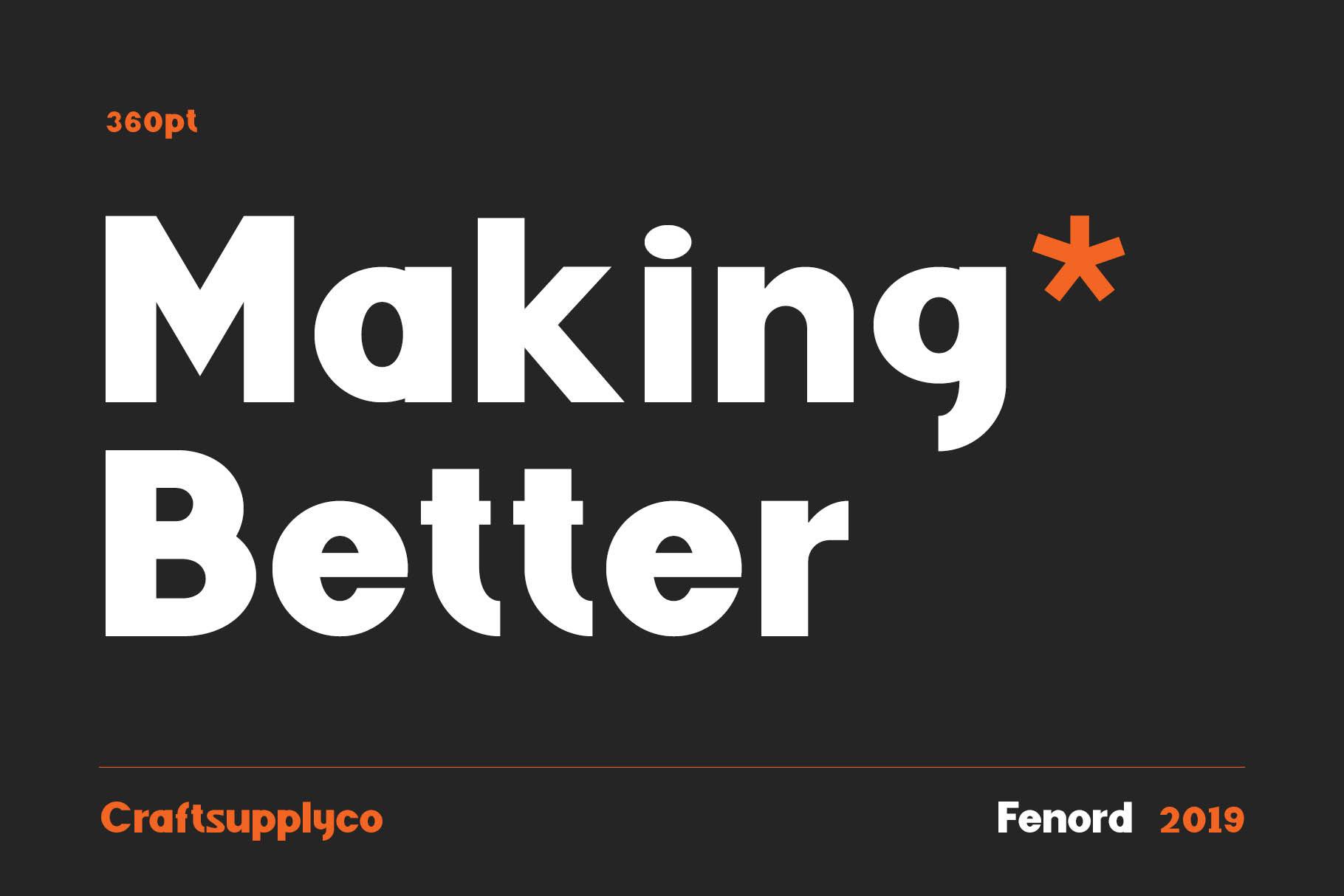 Fenord Free Font - sans-serif