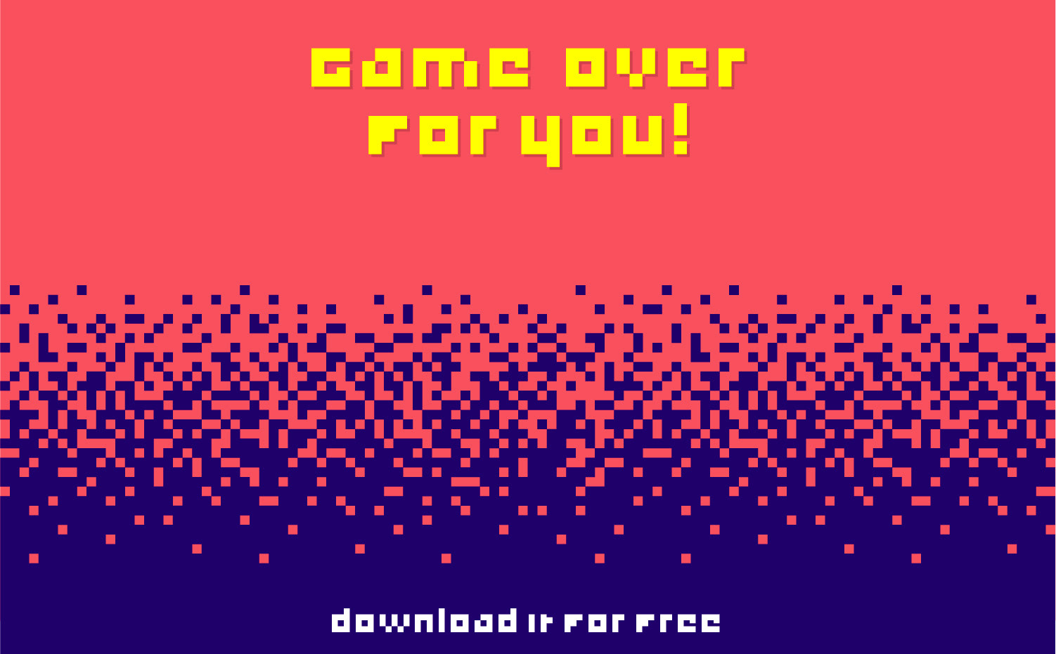 Game Over free font - bitmap-fonts