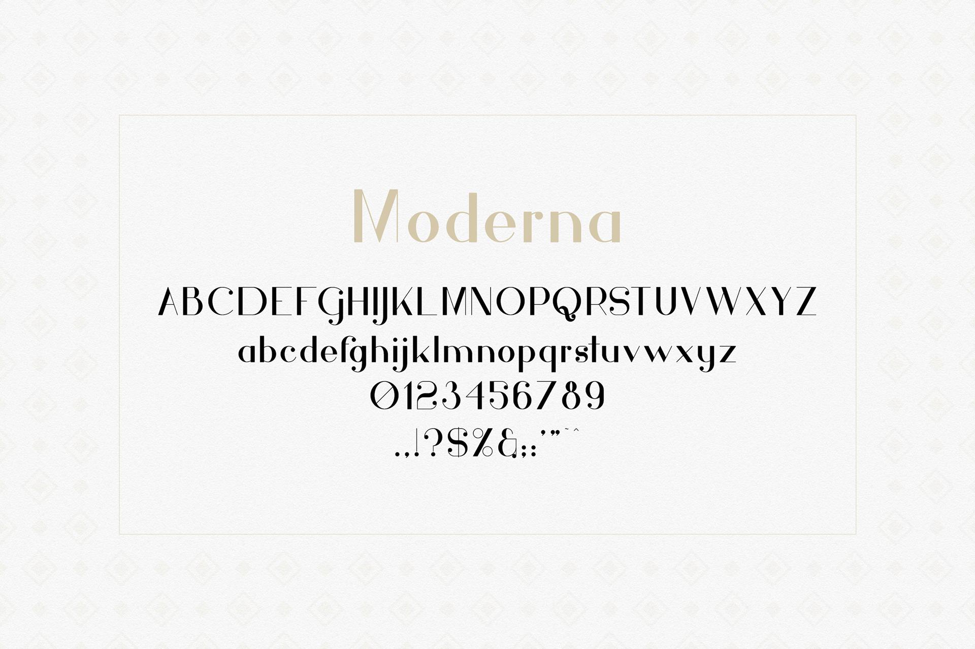 Hashtag Moderna Free Font - serif, decorative