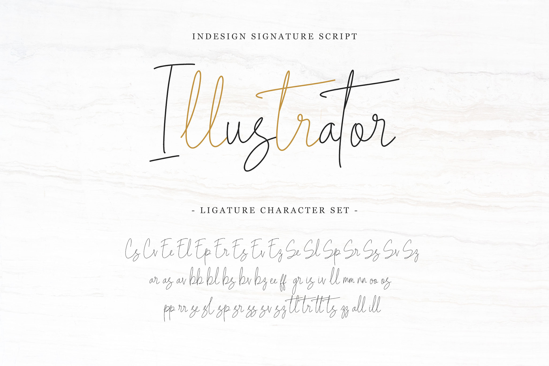 Indesign Signature Script Font - script